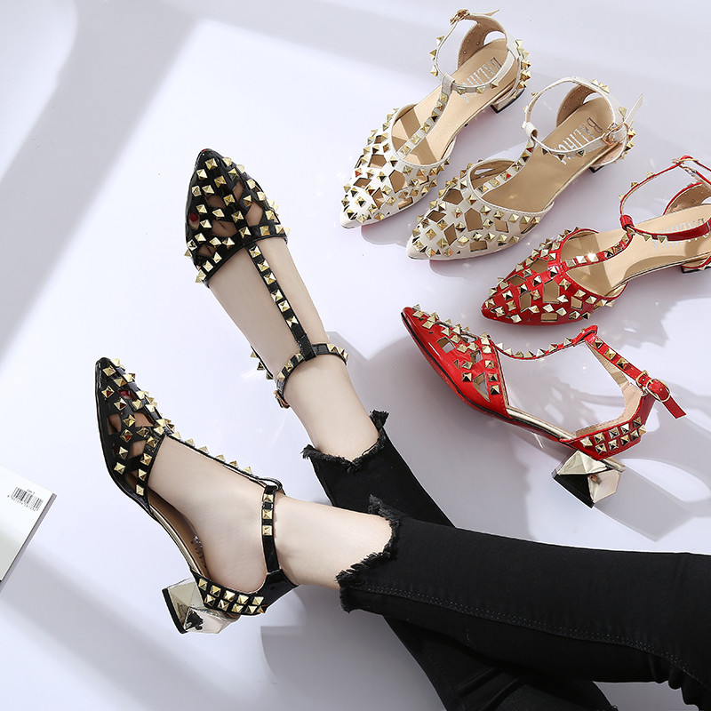 Phyanic Casual Gladiator Sandals Women Pu Thick Heels -2151