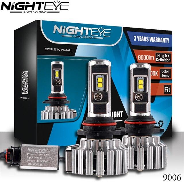 NIGHTEYE удара H7 светодиодный фар 70 Вт 9000LM все в одном автомобиле светодиодный фары лампы фары противотуманные свет 12 В авто Запчасти для авто 6000 К