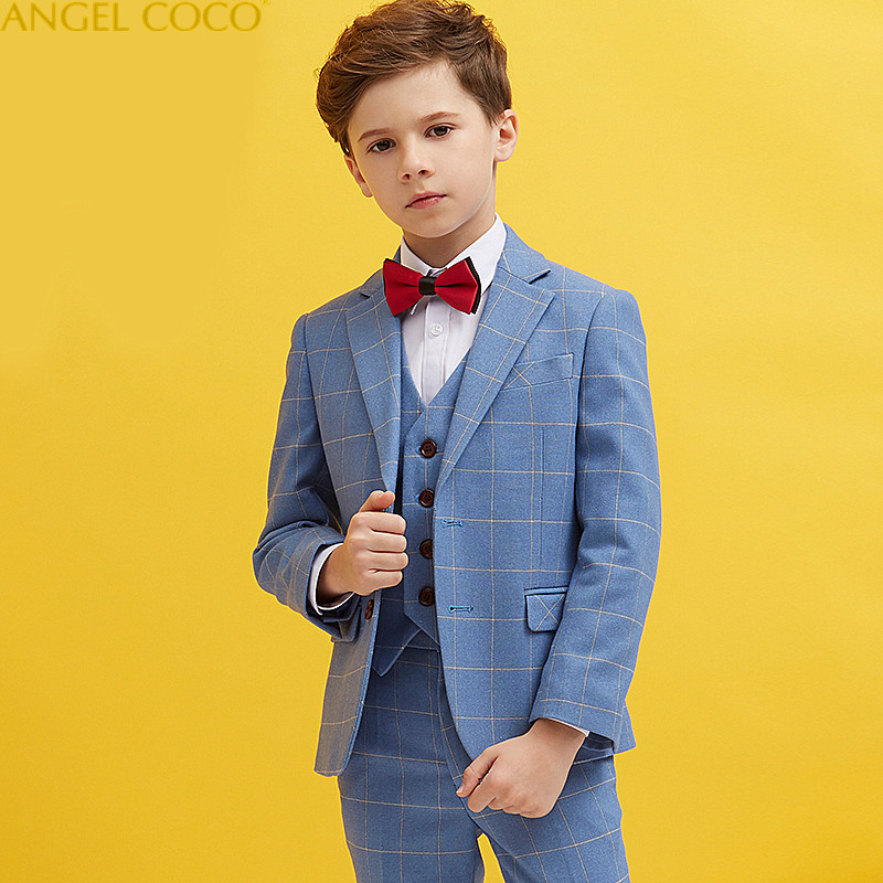 Nimble Blue Boys Suits For Weddings Kids Blazer Suit For Boy Costume Enfant  Garcon Mariage Jogging 6b210198613f