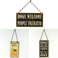 Wooden Retro Door Signs