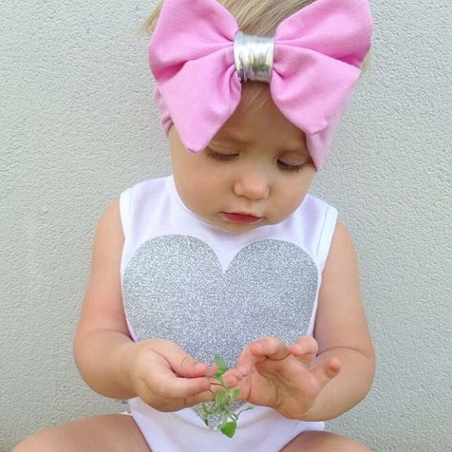 0-18M Newborn Infant Baby Girls Clothes Sleeveless Heart Bodysuit Romper + Tutu Skirt + Headband 3pcs Outfit Kids Clothing Set 11