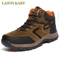 New Clorts Men Hiking Shoes Pu Leather Climbing Shoes Trekking Outdoor Waterproof Shoes Breathable Mountain Shoes