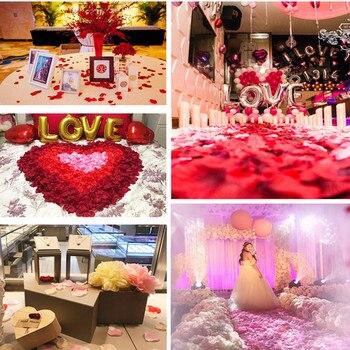 1000pcs Wedding petals Artificial Silk Rose Petals Flowers Petalas Petalos Wedding Bridal Shower Aisle Vase Decor Confetti 8Z 1