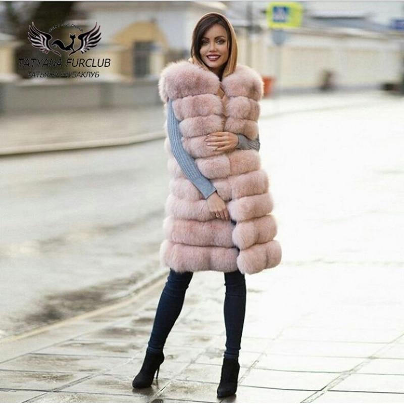 Tatyana Furclub Luxury Fox Fur Vest,100% Real Value Natural Fur Vest,Top Quality Winter Fur Vest,Women's Fur Vest Female Jacket