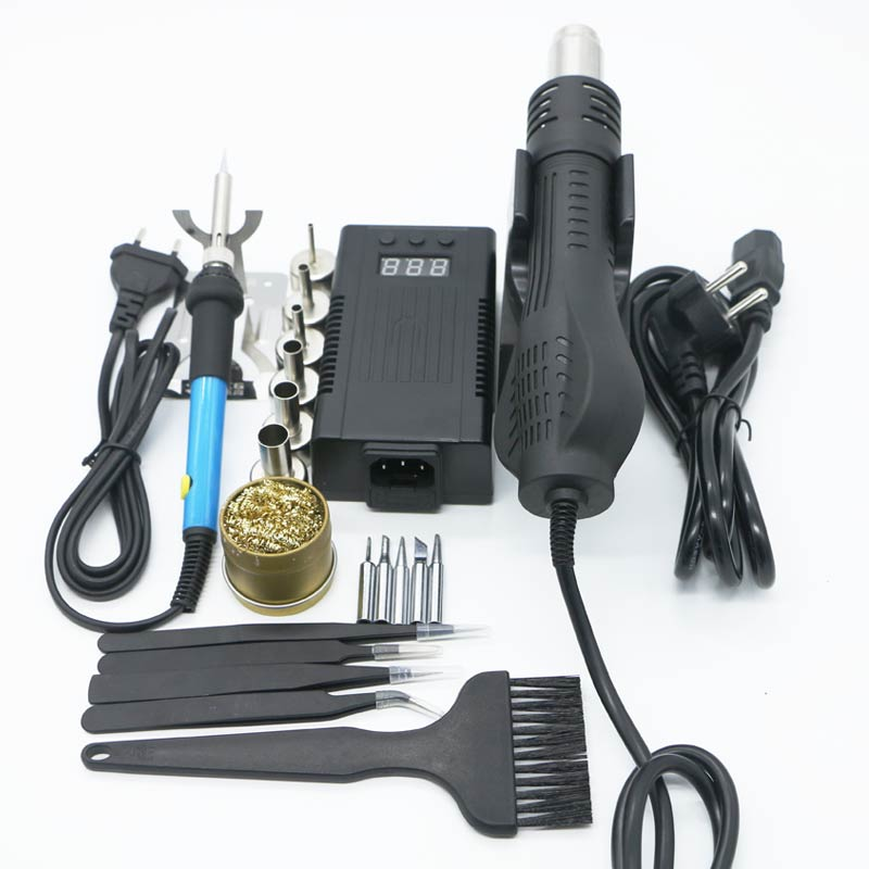 Newest 700w 220/<font><b>110V</b></font> Portable BGA Rework Solder Station <font><b>Hot</b></font> <font><b>Air</b></font> Blower <font><b>Heat</b></font> <font><b>Gun</b></font> <font><b>8858</b></font> Better Hand-held <font><b>hot</b></font> <font><b>air</b></font> <font><b>gun</b></font>+repair tools image