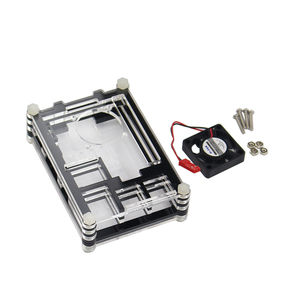 Image 3 - Raspberry Pi 9 layer Acry for Raspberry Pi 3 Raspberry Pi 2 B Raspberry Pi 3 B+ black red Sliced 9 Layers Case Box + Cooling Fan