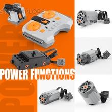 Lepin technic мощность функции двигатель поезд двигатель набор ИК RX TX Servo батарея коробка Конструкторы игрушечные лошадки Совместимость LegoINGs Лепин 20004 20001