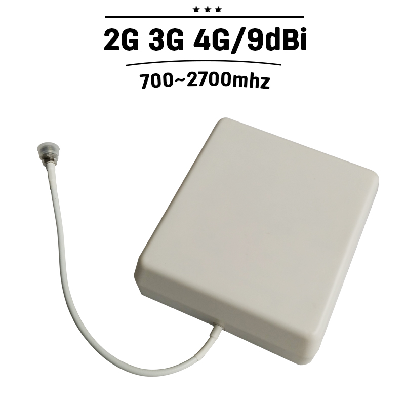 9dBi Outdoor Panel Antenna 700mhz-2700hz Outside GSM 3G 4G Antenna External Cell Phone Aerial For Mobile Phone Signal Booster#25