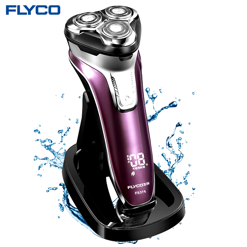 Flyco FS376 3D Men's Electric Shaver Whole Body Washing 1 Hour Quick Charge Maquina De Afeitar Electrica Para Hombre Barbeador электробритва flyco 3d fs370fs372