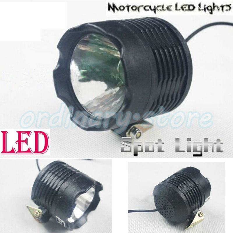 Bright 8W LED Universal Motorcycle Work Light Headlight Driving Fog Spot Lamp Safety Night For All Electric Moto Bike