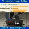 Color de la película de la ventana de Cerámica Nano SIR2598 inyl 30% VLT Tinte Protección Solar