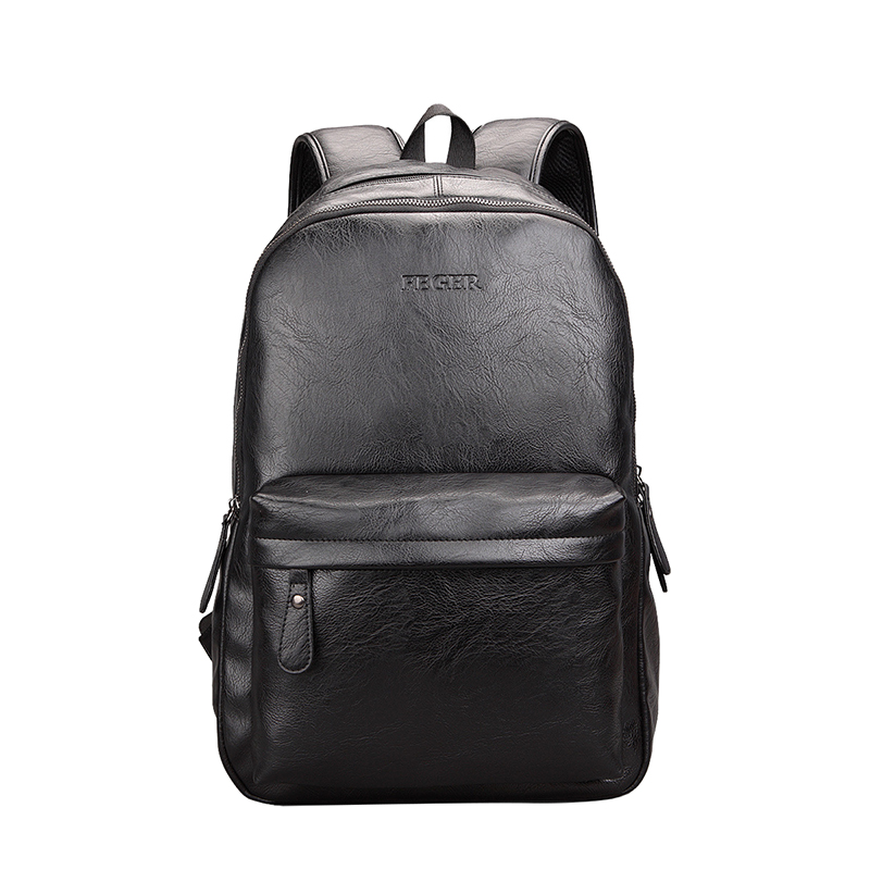ФОТО Fashion Men Vintage PU Leather Computer Backpack Women Casual School Travel Bag Black Brown Rucksack
