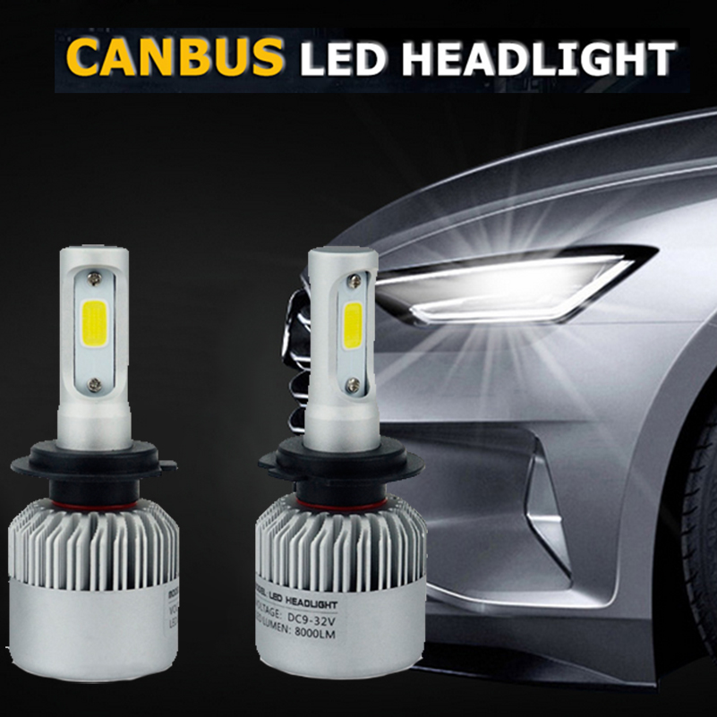 For Mercedes Benz W211 W203 W204 W124 AMG W220 W212 W136 W221 H7 H4 H1 Car LED Headlight 72W Canbus High Low Beam Auto Headlamp