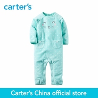 Carters One Piece Jumpsuit Mirco Fleece Baby Girl Children Cloth Pink Mint Sold By Carters China