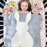 Baby Blanket Cute Rabbit Blanket Soft Warm Wool Swaddle Cute Absorbent Kids Bath Towel