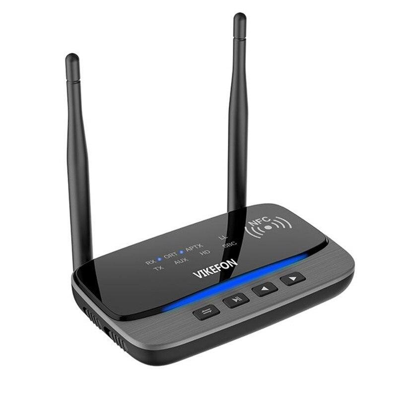 80 m Longue Portée Bluetooth 5.0 Audio Émetteur Récepteur Adaptateur pour TV Faible Latence aptX HD SPDIF RCA AUX 3.5mm avec NFC, bypass