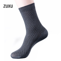 5 Pairs Of Autumn And Winter Bamboo Fiber In The Tube Men Socks Classic Deodorant Business