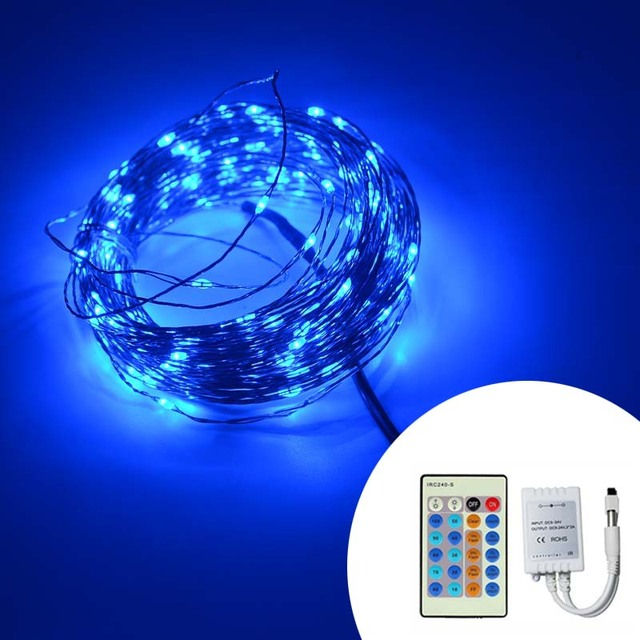 remote control dimmable christmas lights 8 colors 20m 200 led copper wire led string light starry