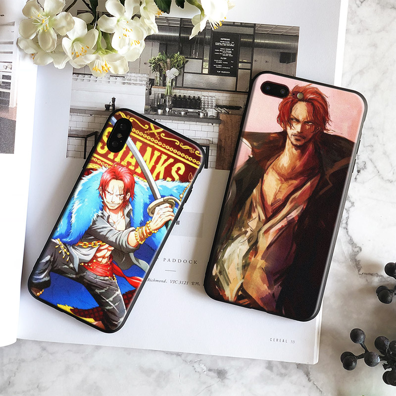 Red Hair Shanks One piece Soft Silicone Phone Case Cover Shell For Apple iPhone 6 6s 6Plus 6sPlus 7 8 7Plus 8Plus X