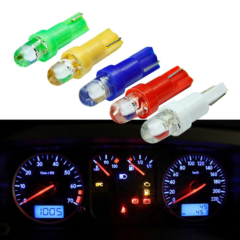 20 шт. интерьер автомобиля T5 светодиодный 1 SMD светодиодный на приборной панели Клин 1 Светодиодный светильник для автомобиля t5 лампа светоди...