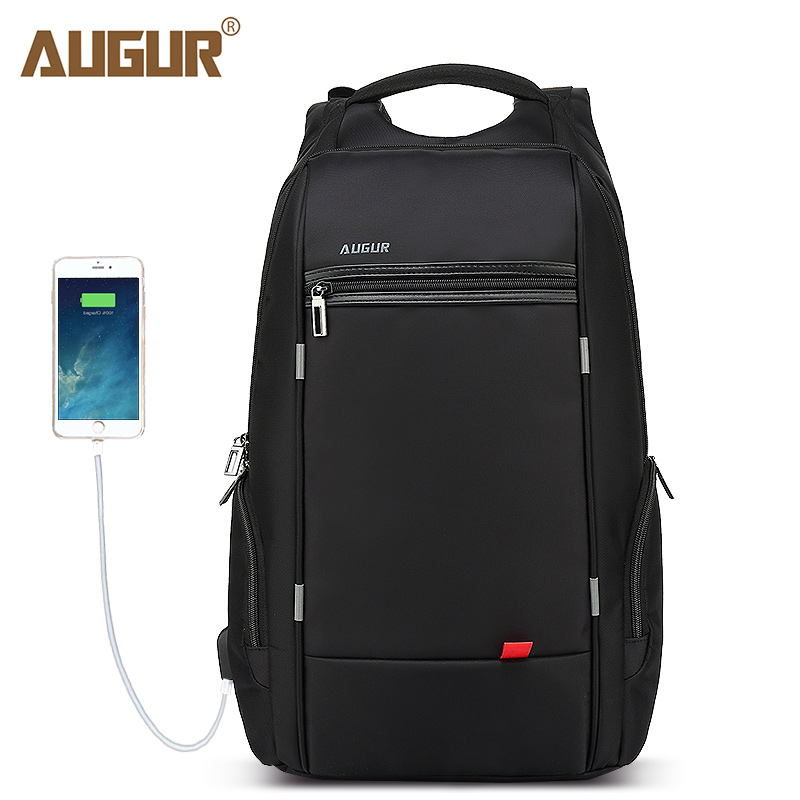 AUGUR Brand Men Women Backpacks USB Charging Laptop Back pack Male Teenagers School Bags Large Capacity Casual Travel Rucksack augur 2018 brand men backpack waterproof 15inch laptop back teenage college dayback larger capacity travel bag pack for male