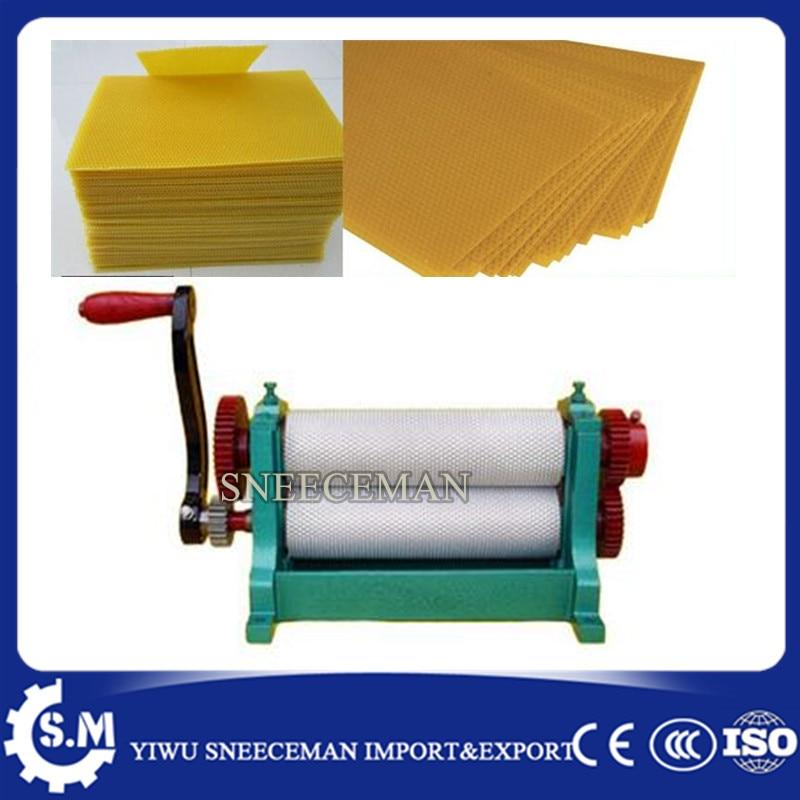 86*310mm Manual Bee Nest embossing bee wax machine chinese cheaper beeswax flat sheet machine for beekeeping