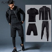 Men Compression Sport Suits Sportswear Running Set Quick Dry Running Sets Clothes Sports Joggers Training Gym Fitness Tracksuits 2017 vansydical suits women sportswear female sports trousers fitness gym running sets quick dry gym clothes suit 6pcs