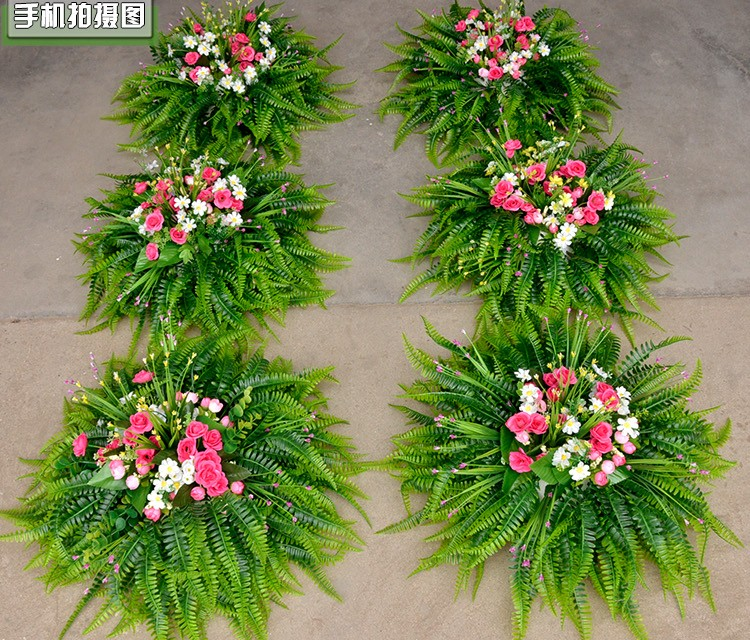 Decoration Flowers For Wedding: Hessian Rustic Lawn Wedding Flower Road Lead Long Table