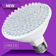 Lampe en plastique à basse température, Ultra brillante, 6W, E27, couleur ultraviolette violette, 100 LED, 110V/220V, pour intérieur plus d'énergie