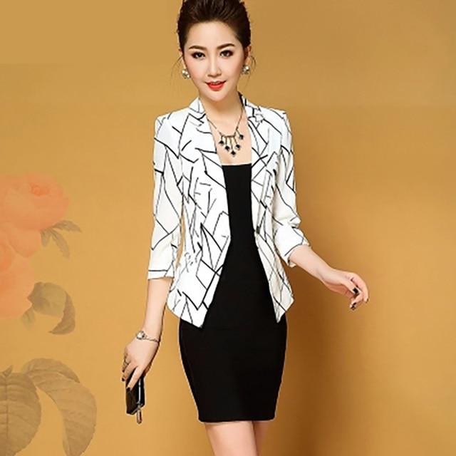 Slim Fit Blazer Feminino Branco Casual White Coat Women Black Korean Harajuku Americana Bleizer Femenino Ladies Coats Fall X064