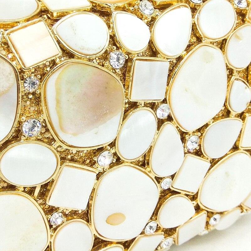 Shell Sacs Mariée À Fgg Soirée 1 Mariage Blanc Luxe Femmes Boutique En Cristal Partie Pochette Main Naturel Minaudière 4 Bourse 2 3 De Sac vtWRn8z