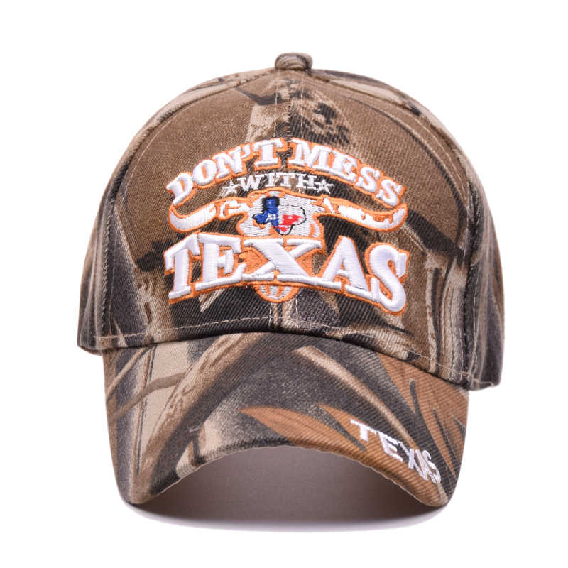 6027f8c1b52 ... Pump Queen 2018 Outdoor Sun Baseball Cap Texas Letters Embroidered Hats  Camouflage Snapback Cap For Men ...