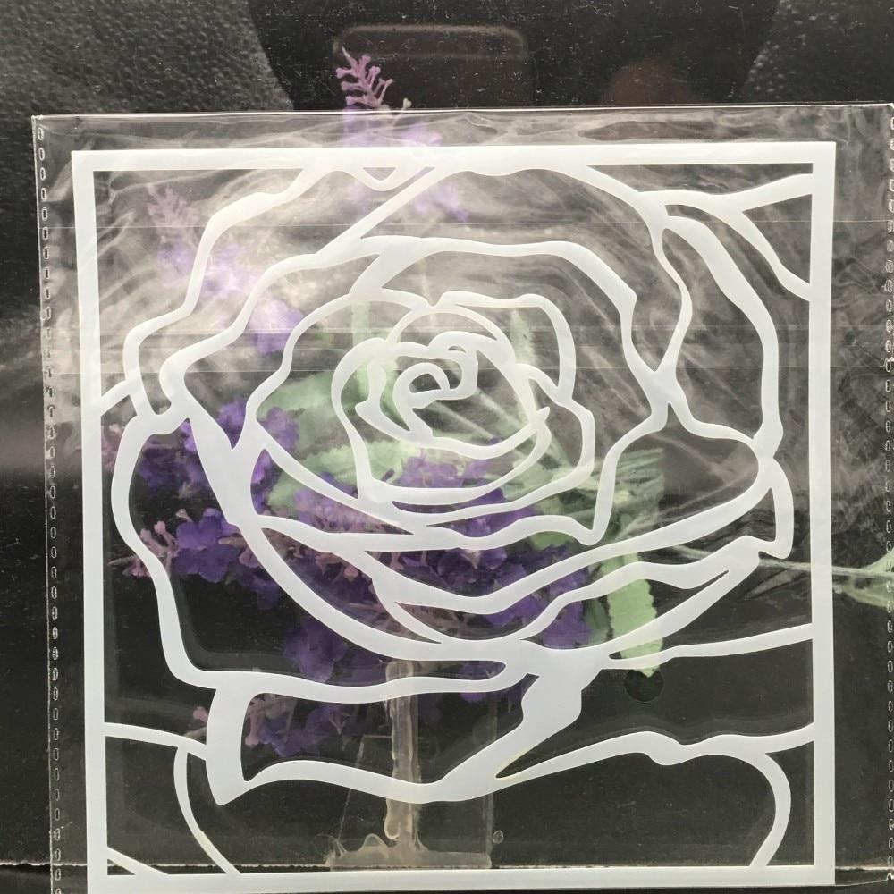 15cm Big Rose Flower DIY Layering Stencils Wall Painting Scrapbook Coloring Embossing Album Decorative Card Template