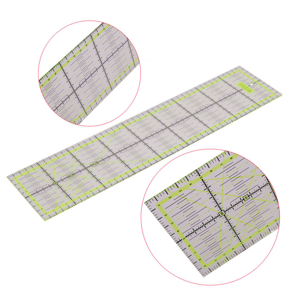 QUALITY PICKS 1 Pcs Professional Patchwork Ruler Student School DIY Rulers 45 * 10 * 0.3cm Green Sewing Tools Collectibles