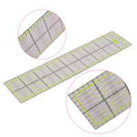 QUALITY PICKS 1 Pcs Professional Patchwork Ruler Student School DIY Rulers 45 * 10 * 0.3cm Green Sewing Tools Collectibles|patchwork ruler|student school|ruler patchwork -