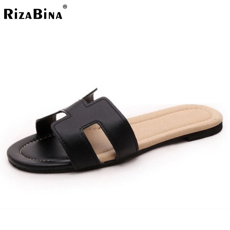 RizaBina arrival brand quality leisure women sandals slippers summer fashion shoes beach flip flops footwear size35-39 WD0138 wolf who summer women slippers buckle flats sandals fashion beach sandals leisure sandalias mujer high quality flip flops women