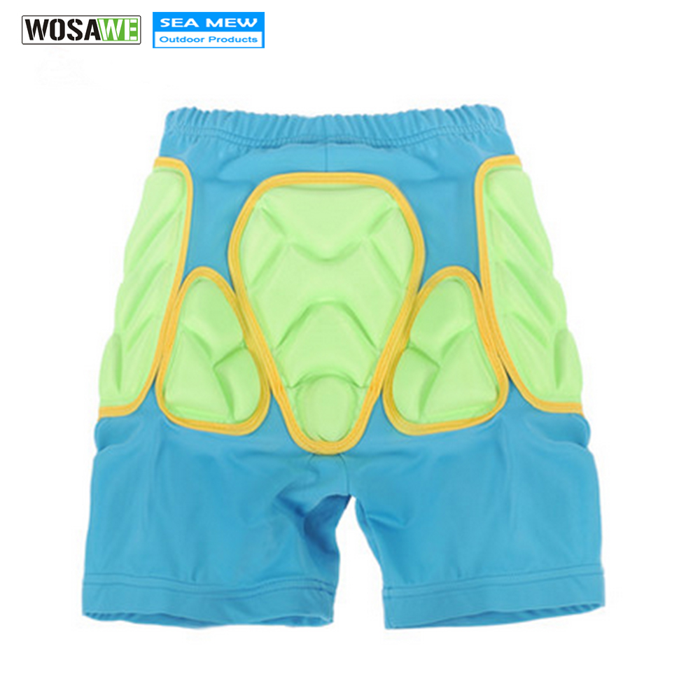 WOSAWE Kids 3D Padded Pants Protective Hip Butt Pad Ski Skate Snowboard Hip Protection Pad Sports Gears Anti Drop Skiiing Pants