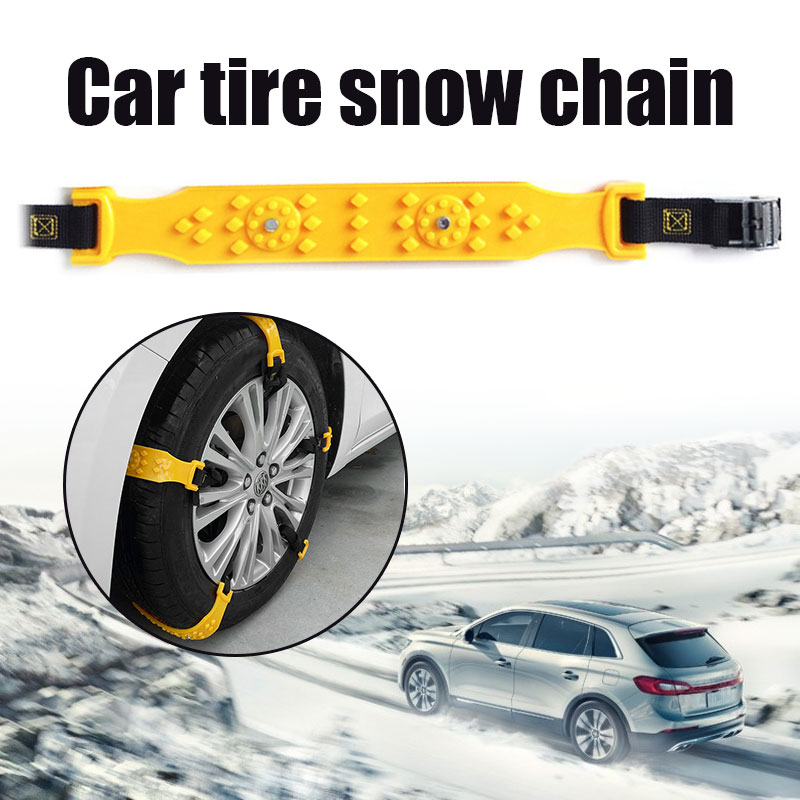 Vehemo желтый ТПУ Нескользящие цепи снежные цепи аксессуары утолщенные восхождение грязь земля Легкая установка снег шины ремень