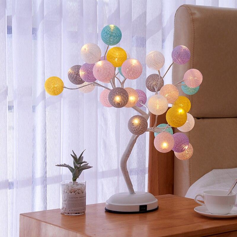 Nordique salon Table lumière chevet arbre lumières vitrail lampes modernes Table lanternes cuisine chambre décor à la maison accessoires