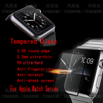 Wholesale 10pcs/lot FENGHEMEI Tempered Glass For Apple Watch 42 38 44 40 mm Series 4 3 2 1 Full Cover Screen Protector