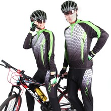 2016 Be nice brand Cool Unisex Green color Cycling Wear Long Sleeve Bicycle Bike Jersey Cycling