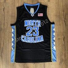 579a025c1 Mens Retro  23 Michael Jordan North Carolina Tar Heels UNC Basquete  Universitário Jersey S-
