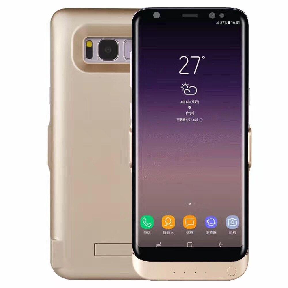 imágenes para Caso de la energía de gran capacidad ultra-delgado para Samsung S8plus externa fuente de alimentación móvil 70000 mah de la batería de carga rápida