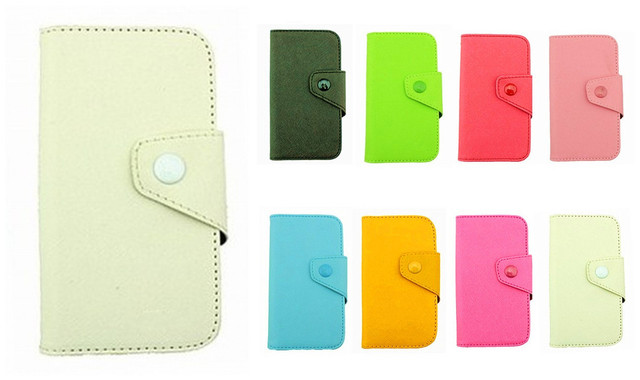 Fancy PU Leather Wallet Case Cover With Magnetic flap closure Diary for Samsung I8150 Galaxy W Smart Mobile Phones