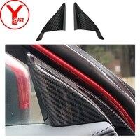 Carbono vela direita decore triângulo para mazda cx5 cx-5 2017 2018 acessórios do carro interior vela direita decore peças abs ycsunz