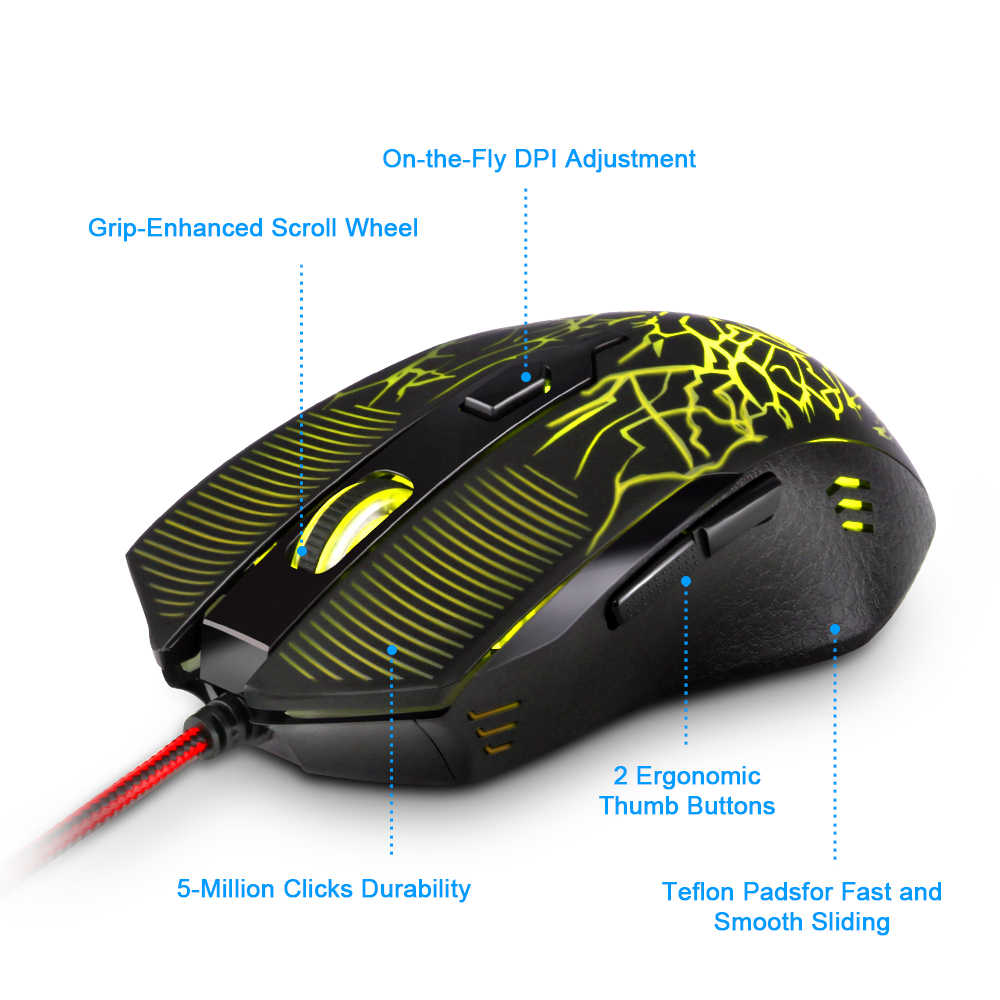 a3d4d1f10ec ... Redragon high quality USB Gaming Mouse 3200DPI 6 buttons ergonomic  design for desktop computer accessories mice ...