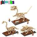 IBLOCKS Jurassic World Park Velociraptor Figuras de Acción Modelo de Simulación de Dinosaurios Fósiles Diamante Bloques Assemblage Juguetes Regalos