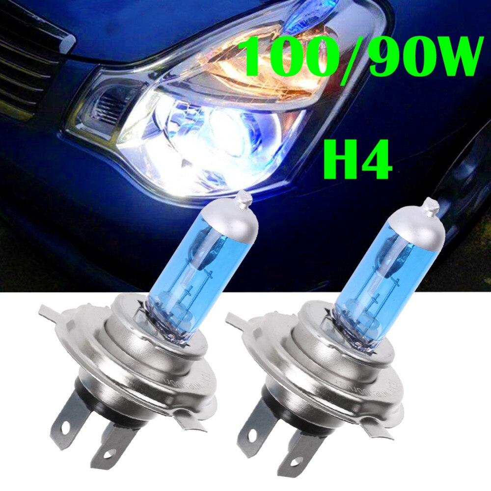 2 PCS 12V 55W H4 9003 Super Bright Fog Halogen Bulb Car Head Lights Lamp