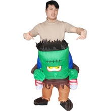 Inflatable Frankenstein Costume for Adults Monster Halloween Carnival Cosplay Party Fancy Dress Men Women Birthday Outfits стоимость