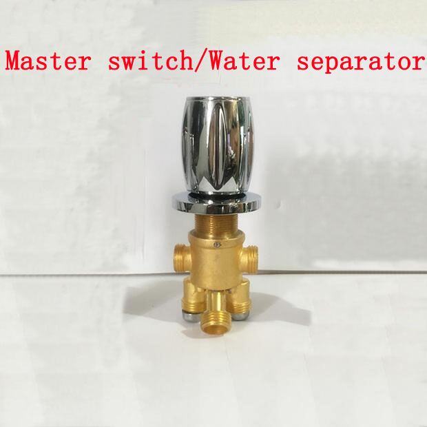 2 in 3 out master switch/water separator, 5 ways shower room mixing valve chrome plated,Bathroom brass bathtub valves faucet set 3pcs 1set quality bathtub split massage bathtub triangle set switch water segregator shower room mixing valve